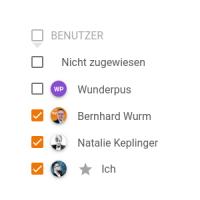 Nach Benutzers filtern